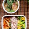 鶏とオクラのみぞれ煮と無駄なし野菜ツナ炒め