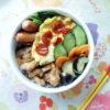 鶏の照り焼き・浅漬けサラダ弁