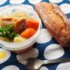 塩豚スープとパン弁当