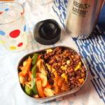 炒飯と野菜炒め弁当