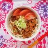 じゃじゃー麺というか肉味噌麺弁当