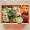鯵とキュウリのすだち絞り混ぜ寿司弁当