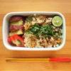鯵とキュウリのすだち絞り混ぜ寿司弁当 其の二