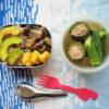 ゴーヤーとオクラのスープ弁当
