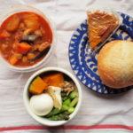 ラム肉とひよこ豆と野菜のトマトスープ弁当