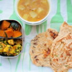 パラタ2種のインド弁当