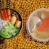 葱と鶏の塩麹スープ弁当