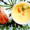 豆乳シチューとスパムすび弁当