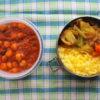 チャナマサラとキャベツのサブジ弁