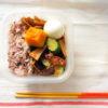 茄子と胡瓜と豚肉の味噌炒め弁当