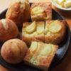 夏のデザートとパン