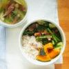 緑の野菜炒め弁当