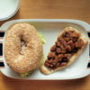 レーズン酵母ベーグルサンドとナンドッグ弁当