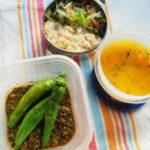 かぼちゃとダル豆のスープ弁当