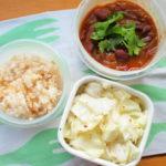 金時豆のカレー弁当