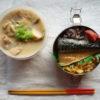 粕汁&鯖弁当