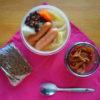 野菜ごろごろスープととプンパニッケルサンド弁当