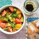 水菜と八朔等のサラダ弁当