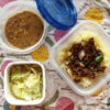 ラムの葱入りキーマとチャナダルカレー弁当