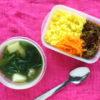 春菊とじゃが芋と肉団子のベトナム風スープ弁当