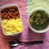 チャナマサラとダルスープ弁当