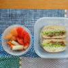 茹で塩豚とキャベツのサンドイッチ弁当