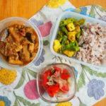 茄子と鶏挽肉とカシューナッツカレー弁当