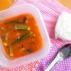 オクラと茄子のサンバル弁当
