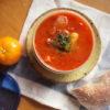 ラム肉のスープとパン弁当
