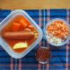 鮭いくら親子丼とトマト風味ポトフ弁当と上海新天地訪問