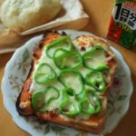 ピザトーストとねこ