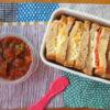 ライ麦黒糖パンでサンドイッチ弁当