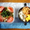春キャベツと豚肉のサラダ弁当