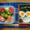 空芯菜豚肉炒め弁当