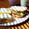 サンドイッチの朝ごはん