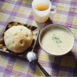 フォカッチャとスープ