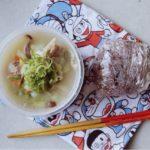 白湯スープとおにぎり弁