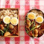 里芋と挽肉のピリ辛炒め弁当