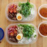 牛肉野菜混ぜ麺弁当