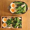 菜の花と鶏肉のガーリック炒め弁当