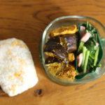 タンドリーチキンと茄子炒め弁当