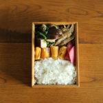 椎茸と春菊と豚肉の生姜炒め弁当