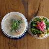 菜の花と豚肉と玉子炒め丼弁当