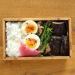 のらぼう菜と豚肉のマヨネーズ炒め弁当
