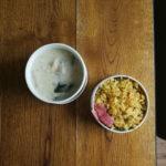 粕汁と玉子炒飯弁当