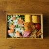 鮭とのらぼう菜の混ぜご飯弁当