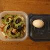 ゴーヤーと茄子と鮭の味噌焼うどん弁当