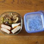 茄子とゴーヤーの味噌炒め弁当
