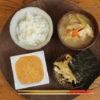 納豆ご飯と味噌汁