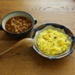 ひよこ豆と鶏ひき肉のカレー